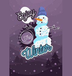 winter poster flyer card cover design with a vector image