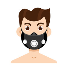 elevation training mask in flat style vector image vector image
