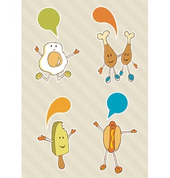 food cartoons vector image vector image