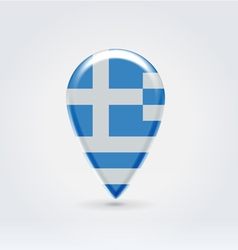 Greek icon point for map vector image vector image