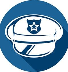 Police Hat Icon vector image vector image