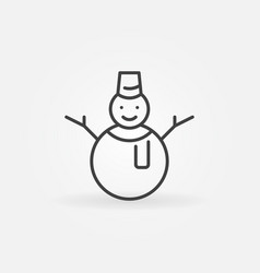 snowman line icon or design element vector image