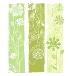 Stylish floral banners vector image vector image