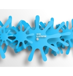 background of blue abstract snowflakes vector image