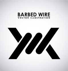 Barbed wire design vector