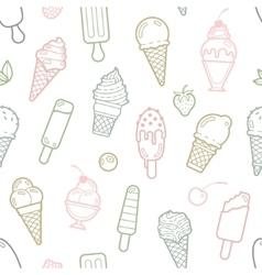 cute pastel ice cream seamless pattern vector image vector image