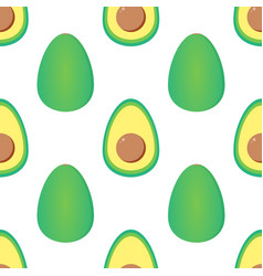 green avocados seamless pattern background vector image vector image