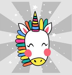 japanese unicorn vector image vector image