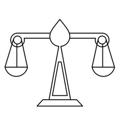 justice scale law symbol thin line vector image