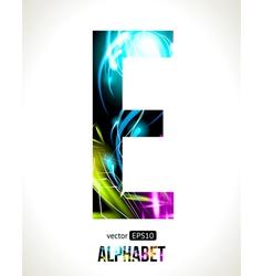 Letter E vector image