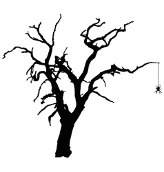 Spooky Tree with Spider vector image vector image