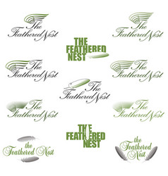 a stylized logo or symbol for a feathered nest vector image