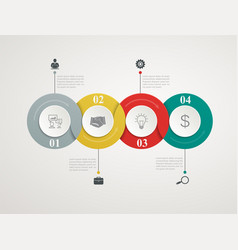 abstract circles parts infographic vector image vector image