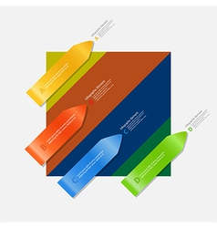 Arrow infographic on multicolor background vector image vector image
