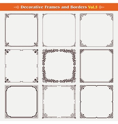Decorative frames and borders 5 vector image vector image