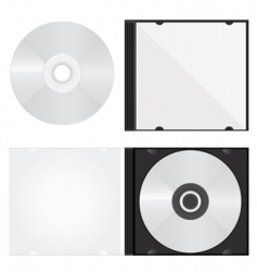 disc and box vector image