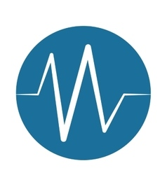heart beat pulse monitoring blue background vector image