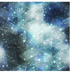 space seamless pattern with grunge effect vector image