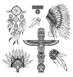Tribal Doodle Set vector image vector image