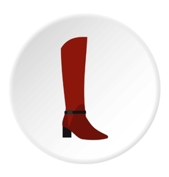 Woman boot icon flat style vector image
