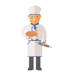 beautiful young chef baker character vector image