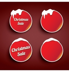 Christmas web buttons set winter web buttons vector image