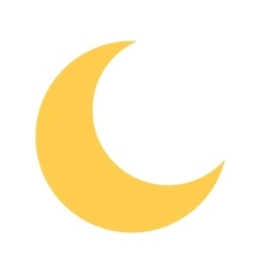 cute moon isolated icon vector image