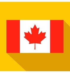 Flag of Canada icon flat style vector image