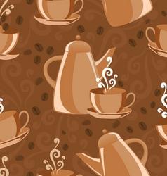 Seamless coffee pattern vector