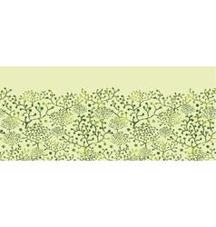 Textured Bushes Horizontal Seamless Pattern vector image vector image
