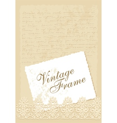 vintage background with photo frame vector image