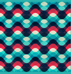 vintage wave seamless pattern with grunge effect vector image