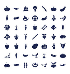 49 vegetable icons vector