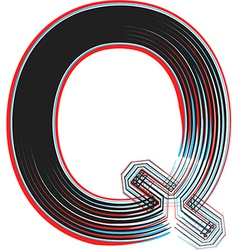 abstract font letter q vector image