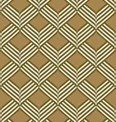 Abstract geometric ribbon pattern seamless vector image