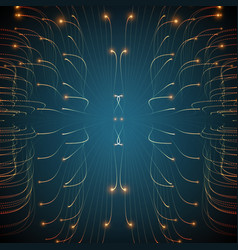abstract glowing lines mesh vector image