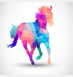 Abstract horse geometric shapes vector