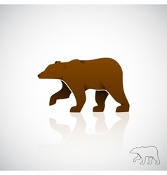 Abstract logo brown bear vector