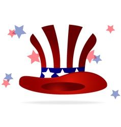 American top hat vector image