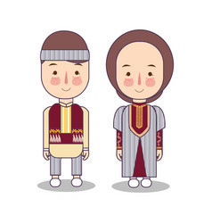 Armenians in national dress man and woman vector