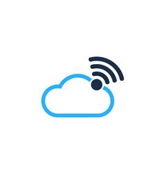 Atmosphere wifi logo icon design vector