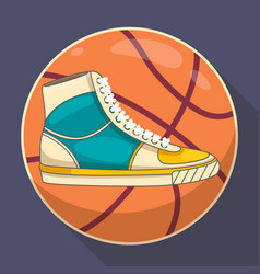 Basketball sneakers graphic vector