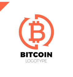 bitcoin exchange logotype letter b in circle with vector image