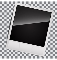 Blank for instant photos vector