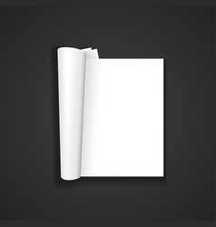 Blank magazine template mockup vector