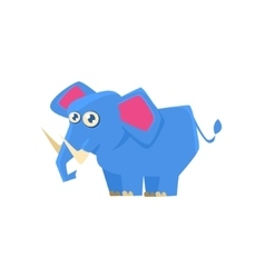 Blue Elephant Toy Exotic Animal Drawing vector image