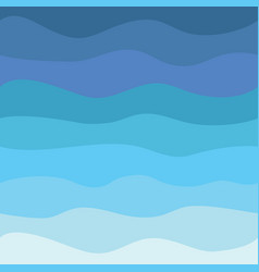 blue waves abstract sea flat design seamless vector image