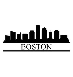 boston skyline vector image