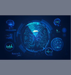 brain scan vector image