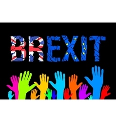 Brexit cracks Text Isolated United Kingdom exit vector image